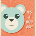 Baby Boy Arrival Card — Stock Vector #59586813