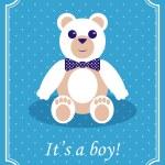 carta di arrivo bambino ragazzo — Vettoriale Stock  #59586865