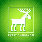 圣诞背景与驯鹿 — 图库矢量图片