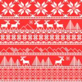 Traditional christmas knitted ornamental pattern — Stock Vector