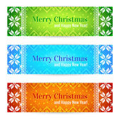 Christmas Sale Banners Set — Stock Vector