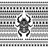Abstract Tribal Ornamental Background — Stock Vector