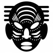 Diseño tribal de máscaras africanas — Vector de stock