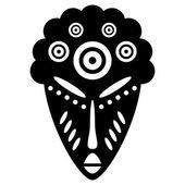 African Masks tribal design — Stock Vector