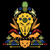 African Abstract Tribal Illustration — Vecteur