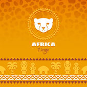 African Tribal Ethnic  Background — Stock Vector
