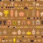 非洲部落模式 — 图库矢量图片