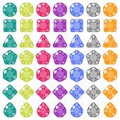 Precious gems icons set — Stock Vector