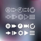 Iconos de líneas finas para web y móvil — Vector de stock