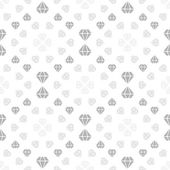 Light seamless pattern with diamonds — Stock Vector