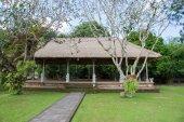 Szene für darstellungen in den tempel taman ayun, bali — Stockfoto