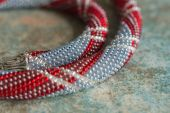 Necklace from small beads close up — Stock Photo