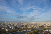 View of Paris in the evening sun — Stock Photo