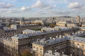 Pohled na Paříž z výšky ptačí let — Stock fotografie