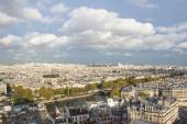 Paris, view of the city from height of bird's flight — Stock Photo