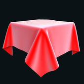 Red silk cloth on the object or table — Foto Stock