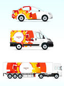 Template vehicle for advertising, branding or business — Stock Vector