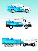 Шаблон транспортное средство для рекламы, брендинг или бизнес — Cтоковый вектор