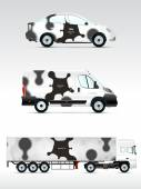 Template vehicle for advertising — Vettoriale Stock