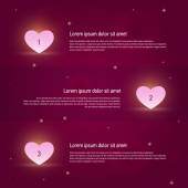 Elements of infographics: love and relationships — Stock Vector