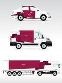 Template vehicle for advertising — Stockvektor