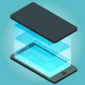 Smartphone devices infographic — Wektor stockowy