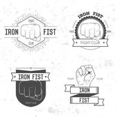 Set of labels, logotypes with hand — Stock Vector