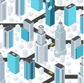 Cartoon city elements — Stock Vector