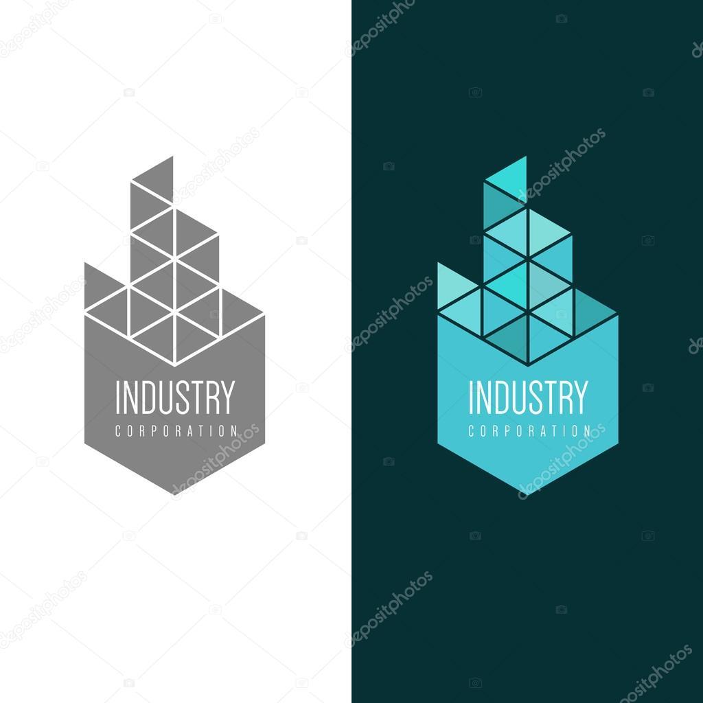 Logos de empresas de construcci n industrial vector de - Empresas de construccion en sevilla ...