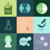 Logo design for science — Vetor de Stock