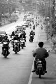 Busy traffic on street in Phuket — Stock Photo