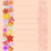 Flowers background on sheet of paper  — Stock Vector