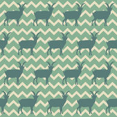 Seamless pattern with Chinese goats symbol 2015 — Vettoriale Stock