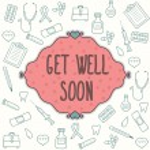 Get well soon card — Stock Vector #56810617
