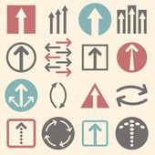 Arrow sign icon set — Stock Vector