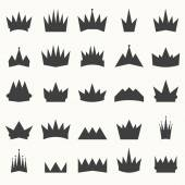 Crown icons set. Heraldic design elements — Stock Vector