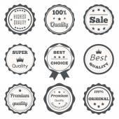 Vector vintage badges. Best choice, premium quality, highest qua — Stock Vector