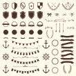 Collection of shields, badges and labels. Vector design elements — Stock Vector #72087727