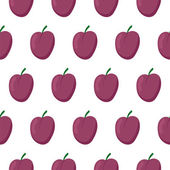 Seamless pattern with plums — ストックベクタ
