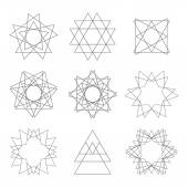 Vector set of design elements. Abstract decorative elements for — Vettoriale Stock
