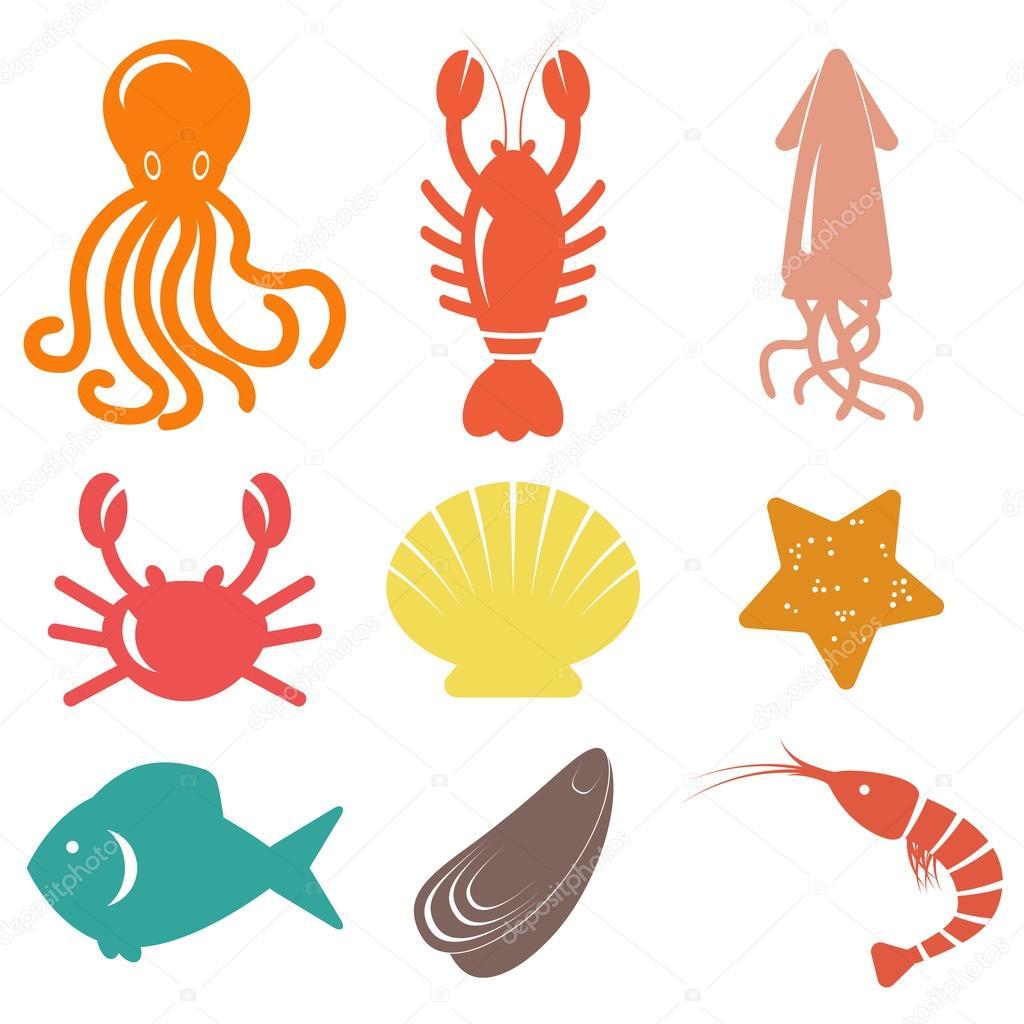 Astounding seafood vector free download photos