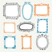 Cute hand drawn frames. Vintage photo frames — Stock vektor