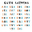 Постер, плакат: Funny alphabet letters Hand drawn fonts
