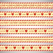Simple vector warning tape love content on a gray — Stock Vector #52603973