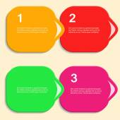 Abstract color vector shapes for your infographics — Stock vektor
