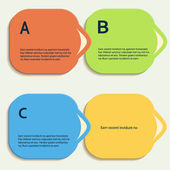 Abstract color vector shapes for your infographics — Stockvektor
