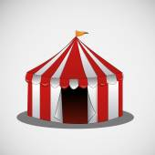 Vector circus tent on a bright background — Stockvektor