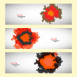 Vector set of three colored abstract spots — Stock Vector #56013217