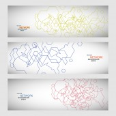 Vector set three sets of abstract contour lines — 图库矢量图片