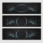Design element. Beauty decorative frame for text — Stock vektor